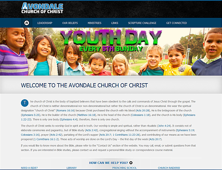Get Your Church Of Christ Online Now! We Do Everything For Church Of